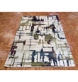 """Hue Collection / Ivory Cityscape 5'3"""" x 7'7"""""""