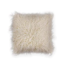 Ivory Shaggy Pillow