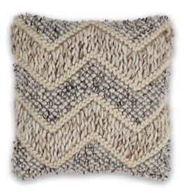Beige and Grey Elements Pillow