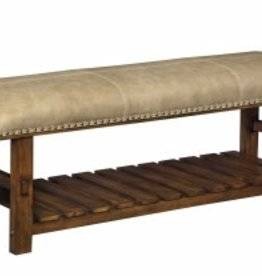 Coast To Coast Imports Leather Beige Accent Bench