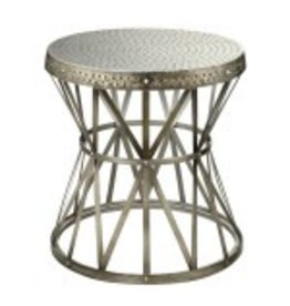 Coast To Coast Imports Hammered Antique Accent Table