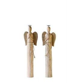 Hand Carved Mango Wood Angel, 2 Styles