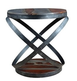 Coast To Coast Imports Round Accent Table / Sphere Metal Base