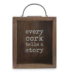 """Every Cork Tells A Story"" Display Box"