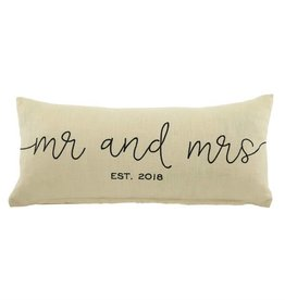 Mr. & Mrs. 2018 Pillow
