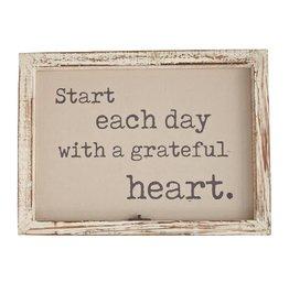 Grateful Window Pane Plaque