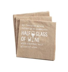 """Half Glass"" Cocktail Napkin"