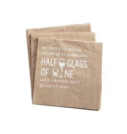 """""""Half Glass"""" Cocktail Napkin"""