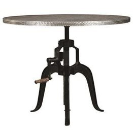 Coaster Round Zinc Dining Table--30""