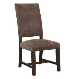 Coaster Parson Chair with Nailhead Trim--Warm Grey