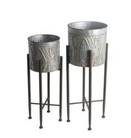 Privilege Galvanized Plant Stand--Small