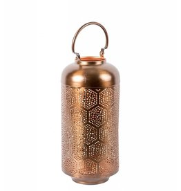Privilege Large Iron Lantern Bronze/Copper