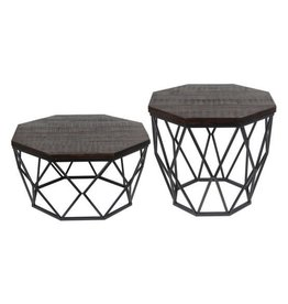 Privilege Octagon Wood Accent Table--Large