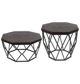 Privilege Octagon Wood Accent Table--Small