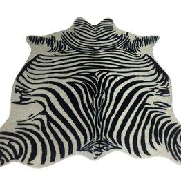 Harp & Finial Zebra Hide Rug