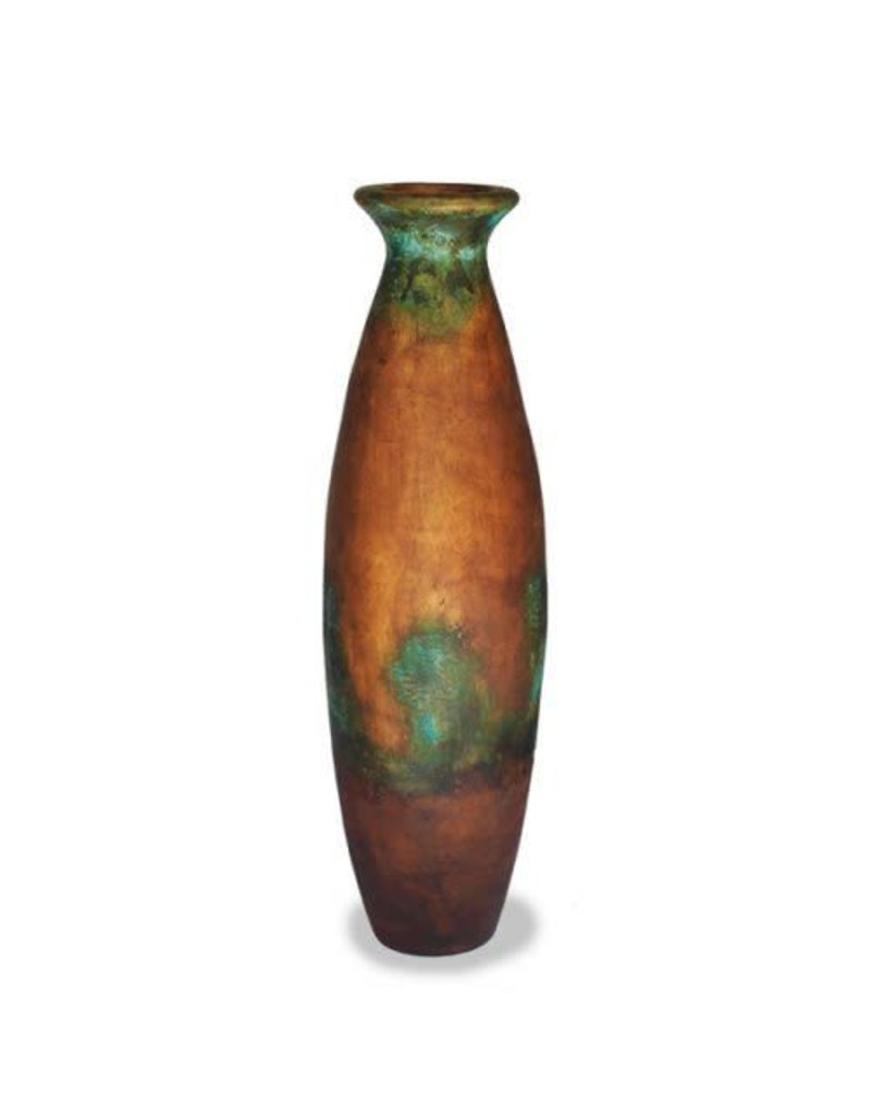 """Red Label Home Turquoise Copper Cocucha Jar/52""""H"""