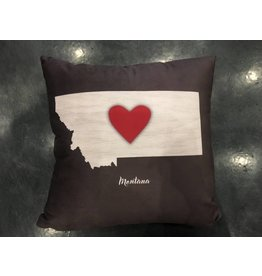 Demdaco Montana Heart Pillow