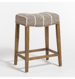 Saddle Counter Stool / Striped Graphite