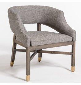 Wyatt Dining Chair--Tweed/Beechwood