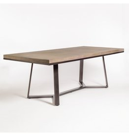 "Sloan 84"" Dining Table--Stone Ash/Gunmetal"