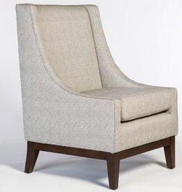 Houston Occasional Chair--Obsidian/Chestnut