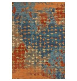 "Illusions Collection / Blue and Coral Elements 7' 10"" x 10' 10"""
