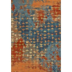"""Illusions Collection / Blue and Coral Elements 7' 10"""" x 10' 10"""""""