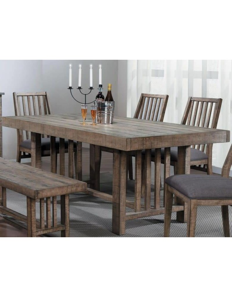 Homelegance Co Burnished Brown Dining Table