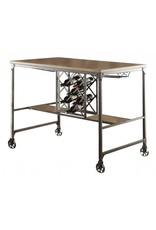 Homelegance Angstrom Counter Height Table with Wine Rack
