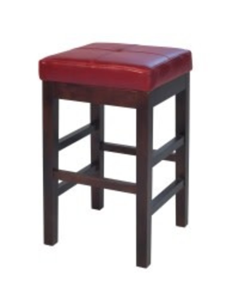 Groovy Valencia Backless Leather Counter Stool Red Alphanode Cool Chair Designs And Ideas Alphanodeonline