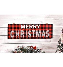 Plaid MERRY CHRISTMAS Sign