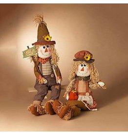 "Plush Sitting Scarecrow/50""H--Set/2"