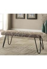 Coaster Mid Century Modern Upholstered Bench--Desert Sand