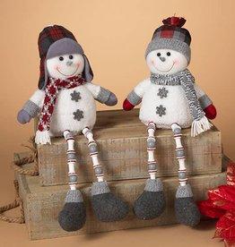"""15""""H Plush Snowman Shelf Sitter 2/asst--Choice of one"""