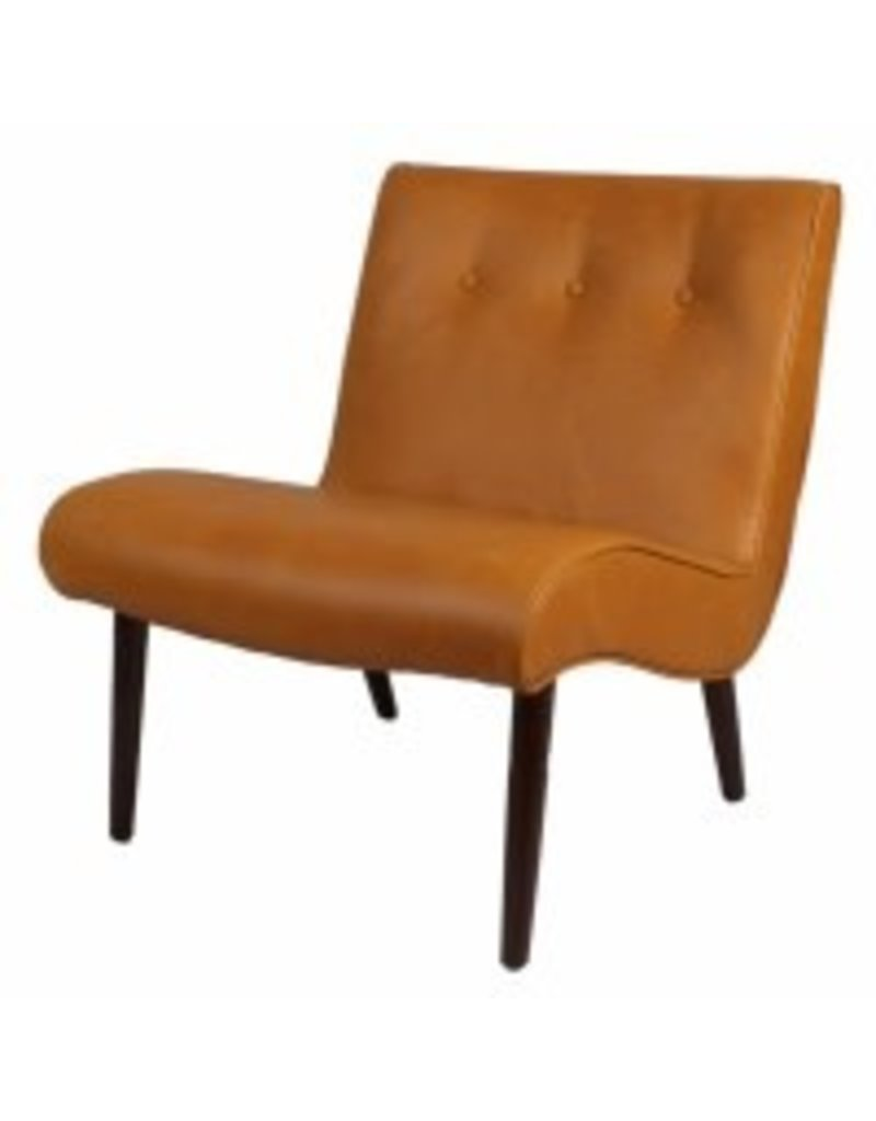 Alexis Bonded Leather Chair Wenge Legs--Vintage Caramel