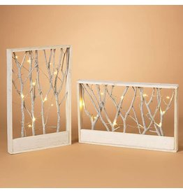 """22.2"""" B/O Lighted Wood Forest"""
