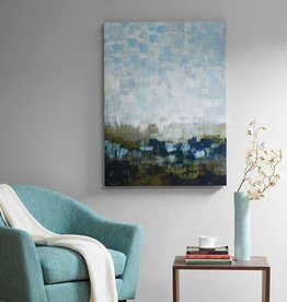 Abstract Land Gel Coated Canvas