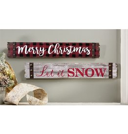 Wood Sign--LET IT SNOW