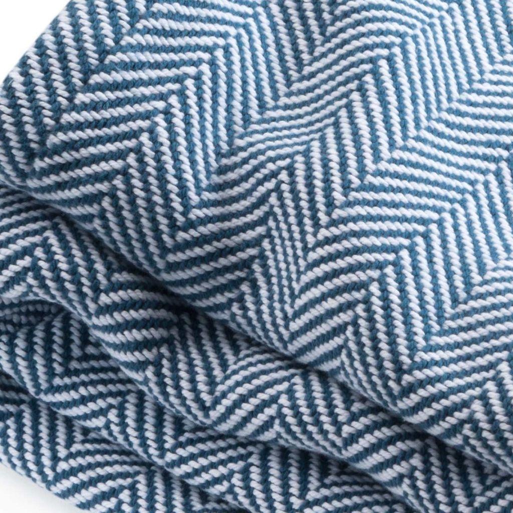 Blanket - Indigo Herringbone