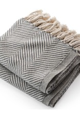 Throw - Slate Herringbone