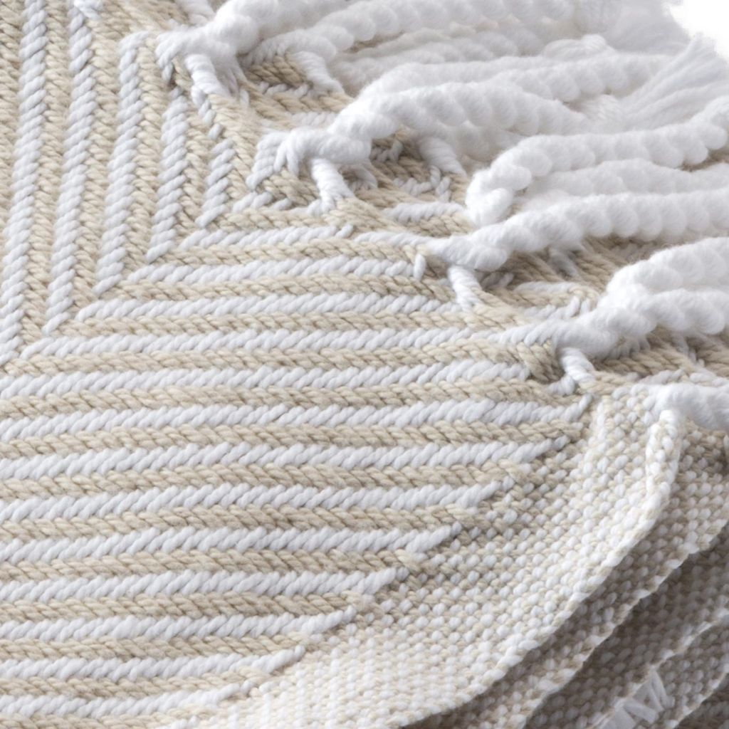 Throw - Oyster Herringbone