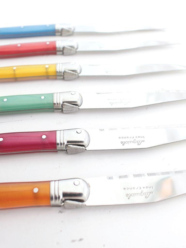 Laguiole Flash Color Steak Knives