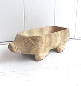 Wood Pig Bowl Mini