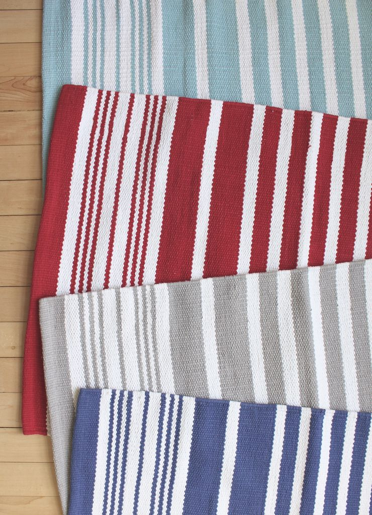 Harbor Sea Stripe Cotton Rug