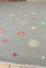 Diamond Sea Wool Hooked Rug