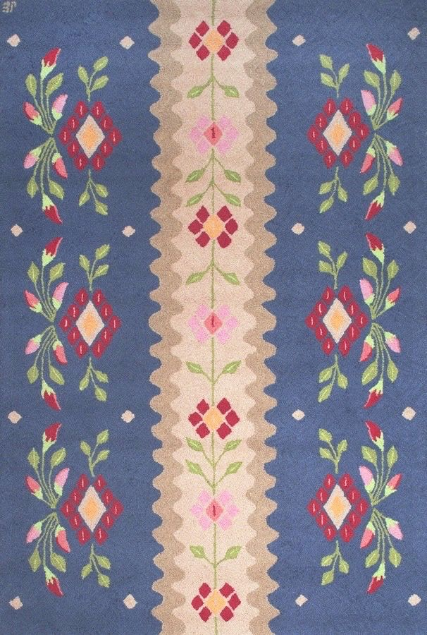 Scandi Noon Wool Hooked Rug