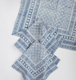 Napkin - Nona Blue Block Printed