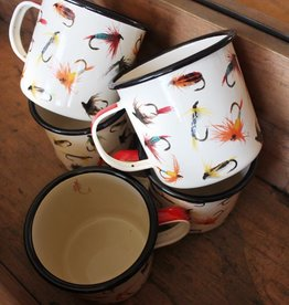 Flies Enamel Mug