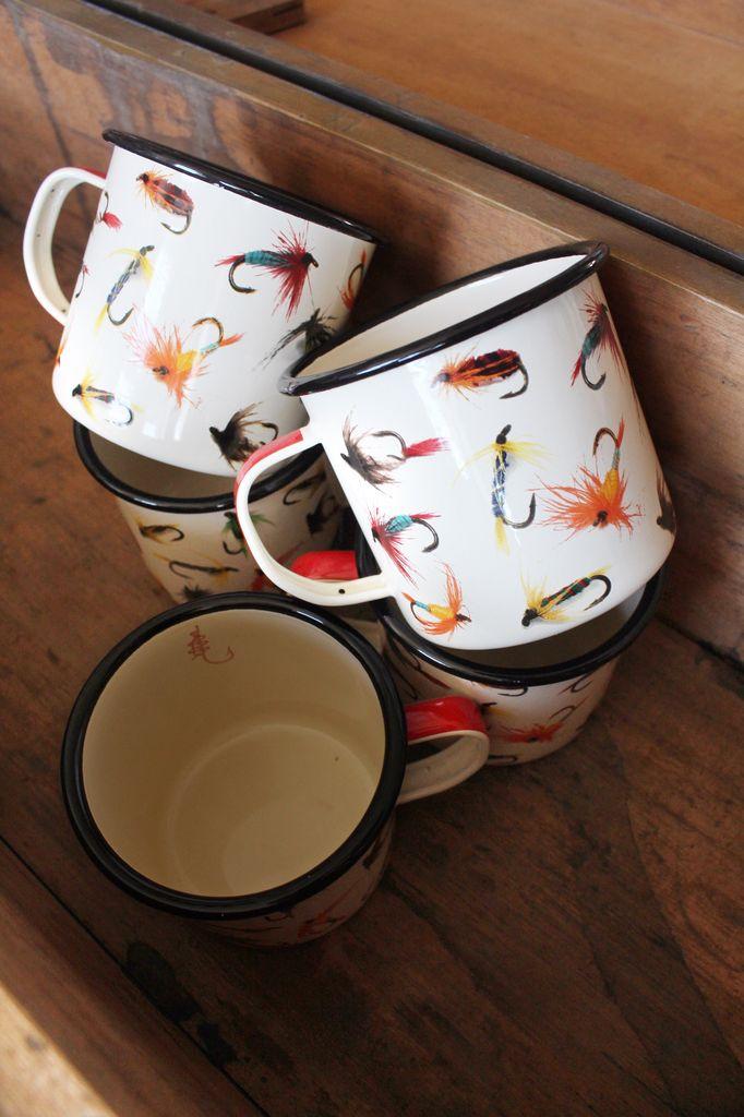 Flies Enamel Mug