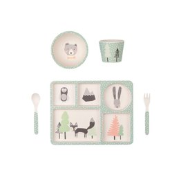 Bamboo Dinner Set - Fox